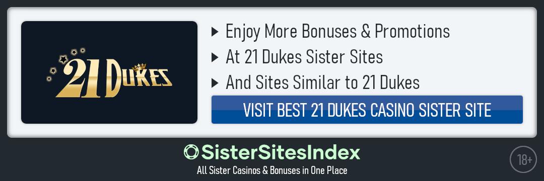 21 Dukes Casino sister sites