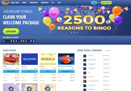 Bingo Hall Homepage