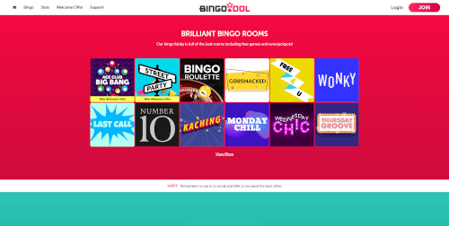 Bingo Idol Bingo Rooms