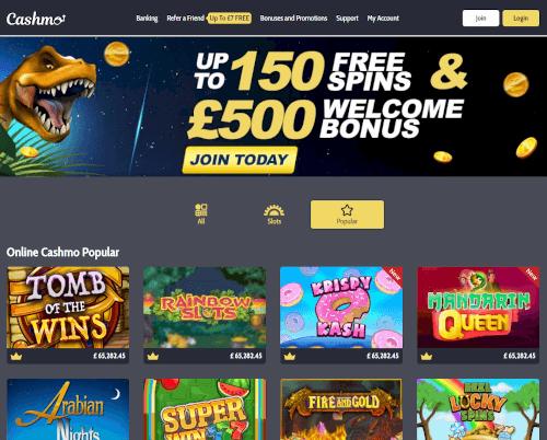 Cashmo Homepage