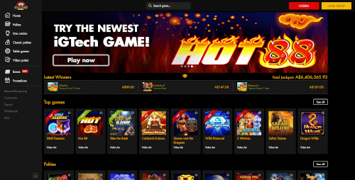 Casino Moons Homepage