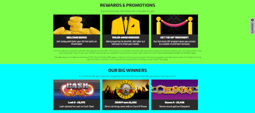 Secret slots Rewards and Promo
