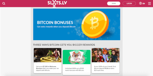 Slots LV Games Bitcoin