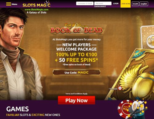 Slots Magic Homepage