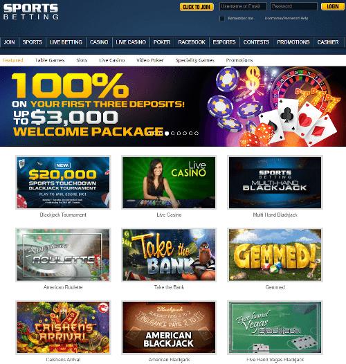 Sportsbetting.ag Homepage