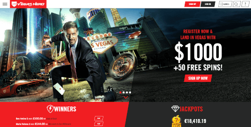 Vegas Hero Homepage