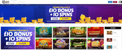 Kaiser Slots Homepage