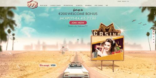 777 Casino Homepage