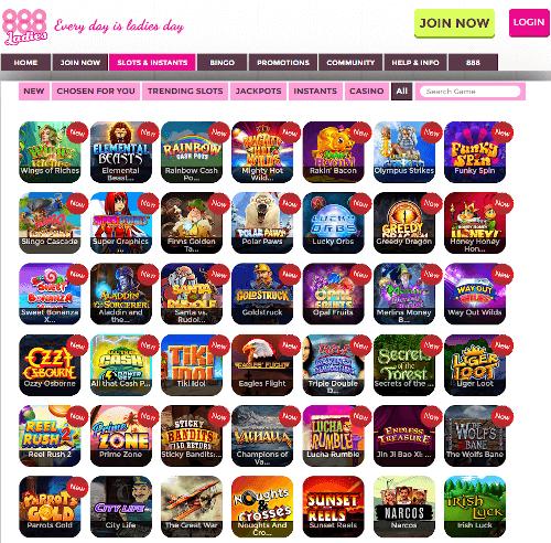 888 Ladies Games