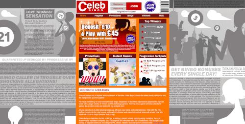 Celeb Bingo Homepage