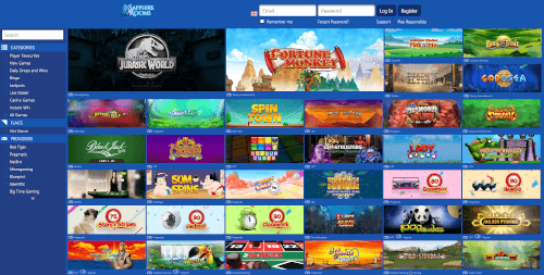 Sapphire Rooms Games