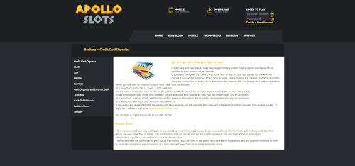 Apollo Slots Banking