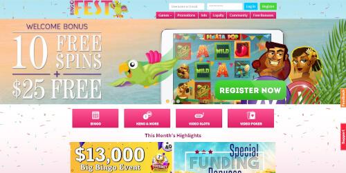 Bingo Fest Casino Bonuses
