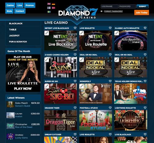 Diamond7 live casino