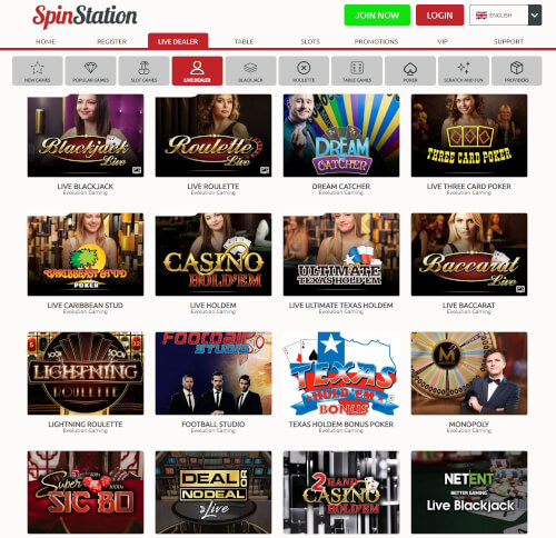 Spinstation Live Casino