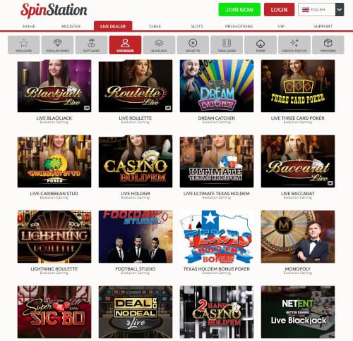 Spinstation Live Casino