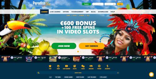 ParadiseWin Bonuses