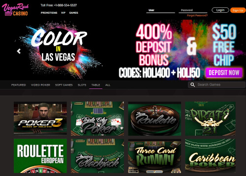 Vegas Rush Casino Bonuses