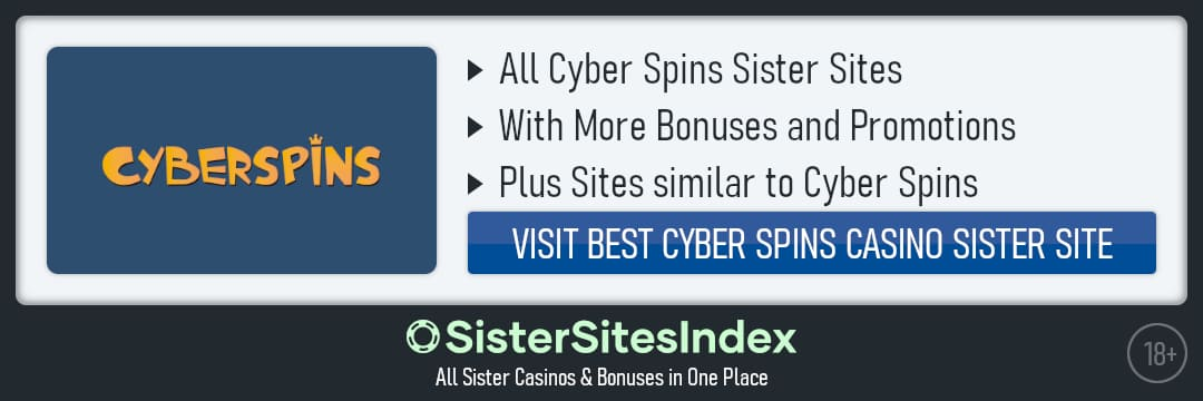 Cyber Spins sister sites