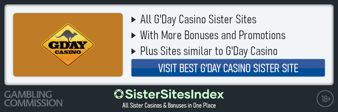 G'Day Casino sister sites