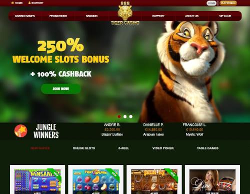 888 tiger Casino Bonuses