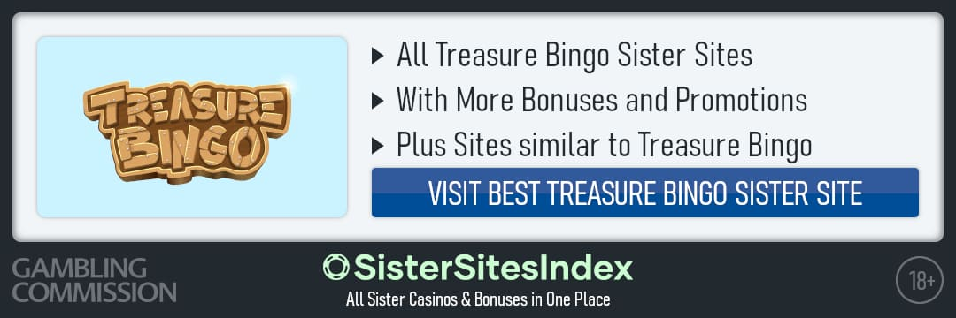 Treasure Bingo sister sites