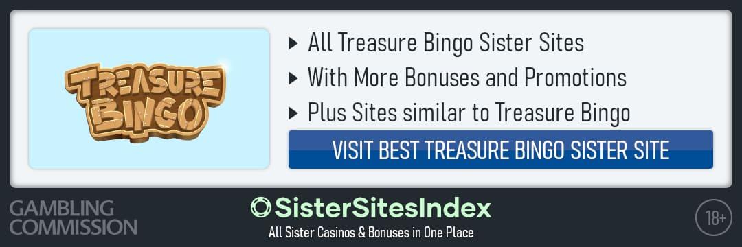Treasure Bingo sister sites