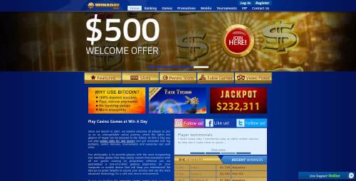 Winaday Casino Bonuses