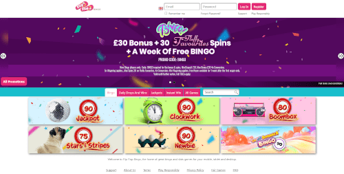 Flip Flop Bingo Homepage