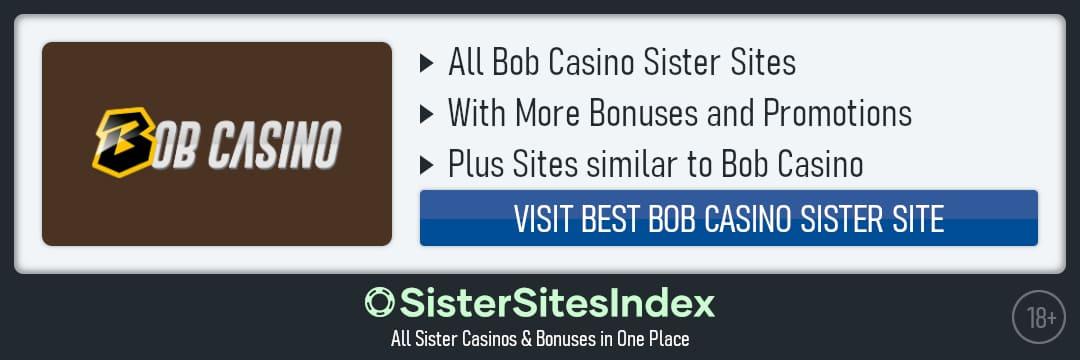 Bob Casino sister sites