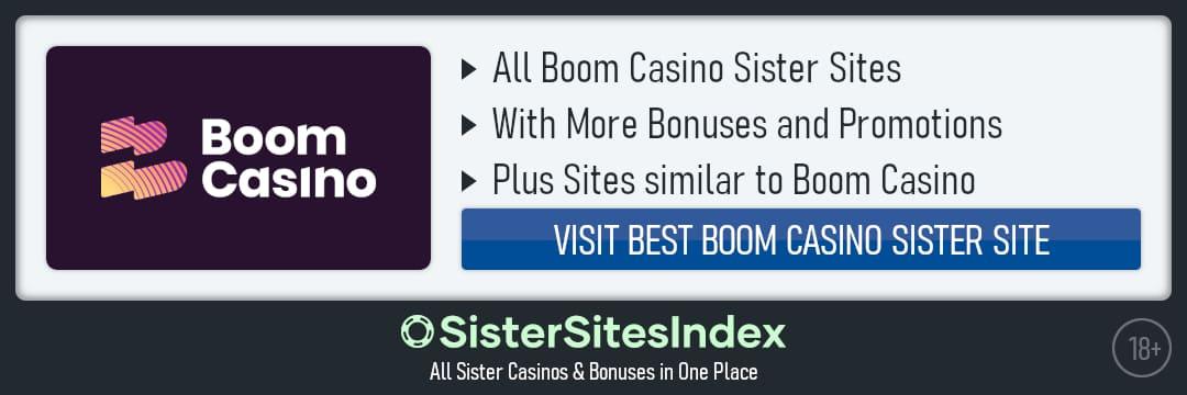 Boom Casino sister sites