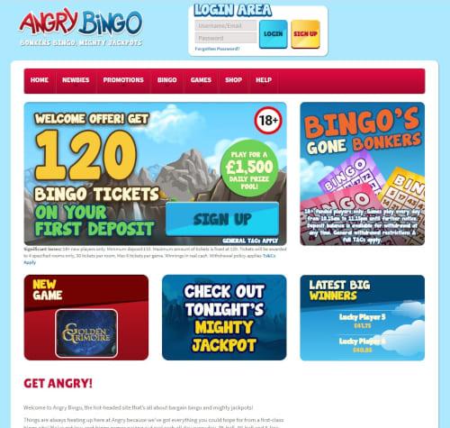 Angry Bingo Welcome Offer