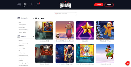 Shadowbet Games