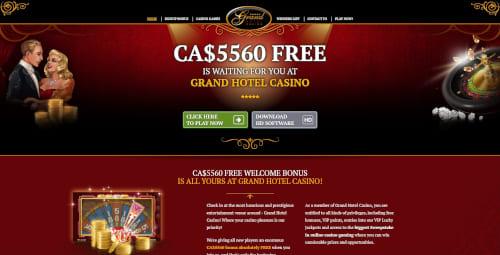 Grand hotel casino Bonuses
