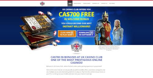 UK Casino Club Bonuses