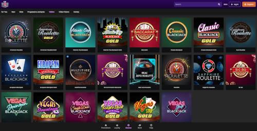 UK Casino Club table games