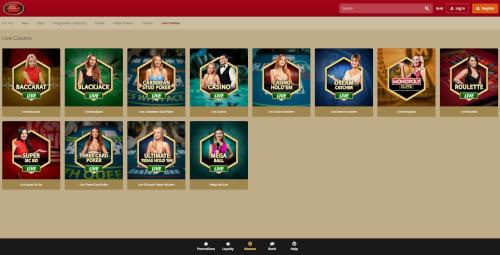 Villento casino Live Casino