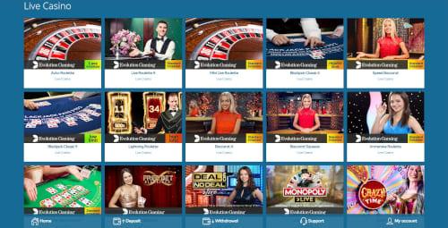 Yeti Casino Live Casino
