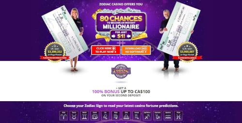 Zodiac casino Bonuses