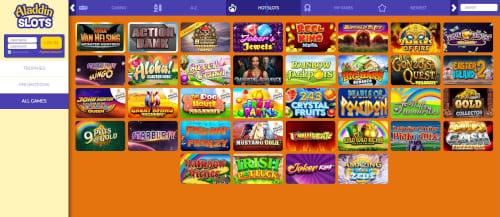 Aladdin Slots games
