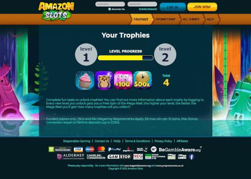 Amazon Slots progress level