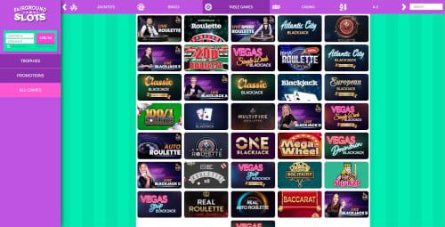 Fairground Slots live casino