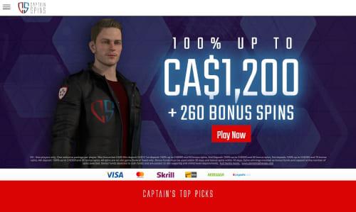 Captain Spins Casino Bonus
