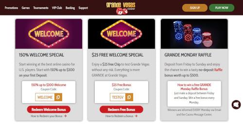 Grande Vegas Casino Promotions