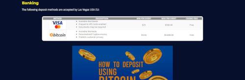 Las Vegas USA Casino Banking