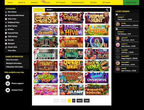 Silveredge Casino Games