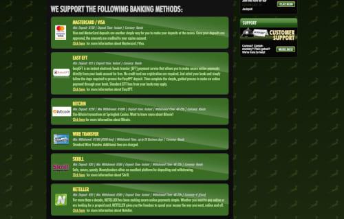 Springbok Casino Banking