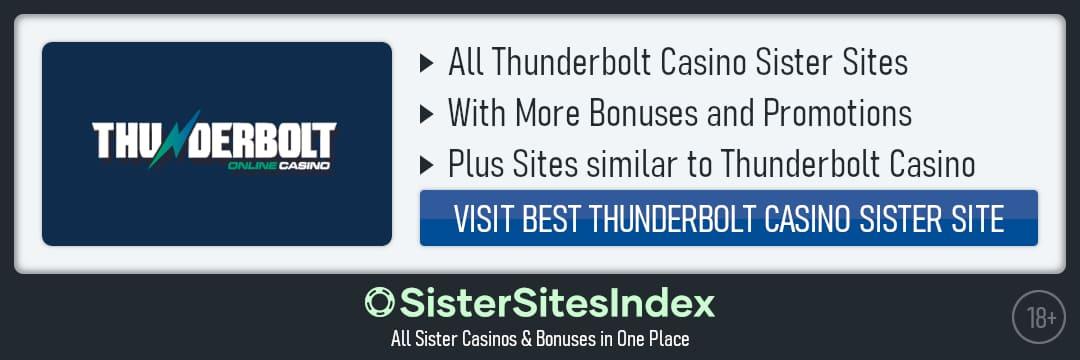 Thunderbolt Casino sister sites
