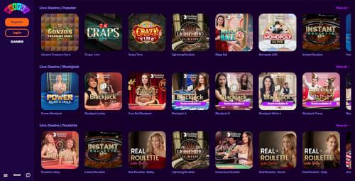 Wheelz Casino Live Casino