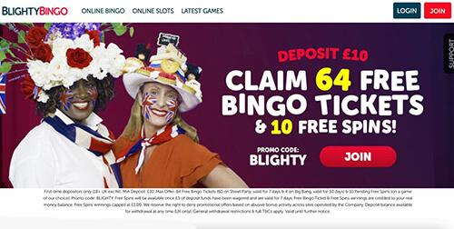 Blighty bingo Bonuses